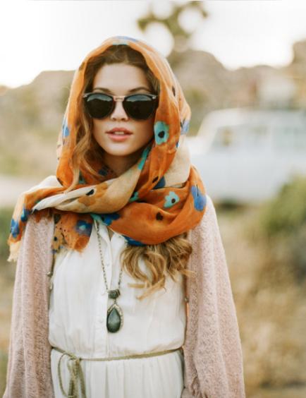 how to tie head scarf bun