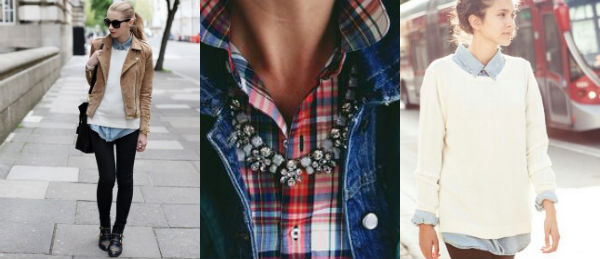 flannel and statement necklace