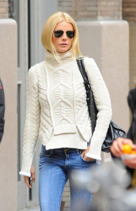 Gwyneth Paltrow Chunky Sweater