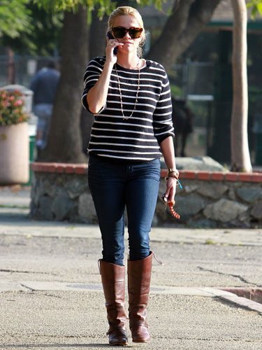 Reese Witherspoon riding boots