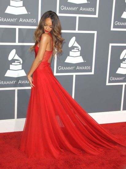 Rihanna arrives at the Grammy Awards 2013 at Staples Center-1703300