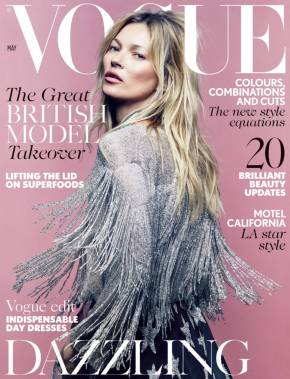 Kate Moss Celebrates her 35th Cover of Vogue UK