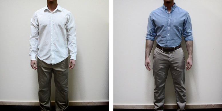 ill-fitted dress shirt